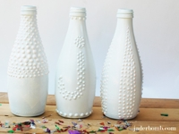 JADERBOMB Textured Faux Milk Glass