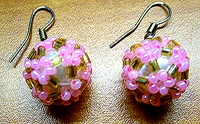 3dbeading_com Beaded Ball Earrings