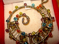 3dbeading_com Beaded Spiral Wire Pendant