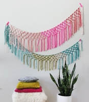 A Beautiful Mess Macrame Yarn Garland