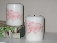 A Girl In Paradise Printed Pictures on Candles