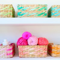 A Kailo Chic Life Dip Dyed Baskets