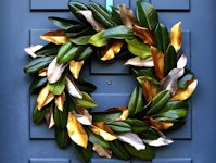A Piece Of Rainbow Magnolia Wreath
