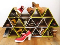 A Piece Of Rainbow Triangle Shoe Rack