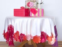 A Subtle Revelry Tablecloth with Crochet Doilies
