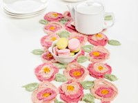ACMoore Crocheted Roses Table Runner