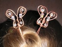 AOK Corral Wire Butterfly Hair Sticks