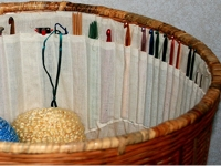 AboutCom Crochet Yarn Basket with Needle Holder