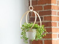 Alice and Lois Embroidery Hoop Hanging Planter