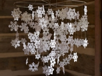 All Things Heart and Home Paper Snowflake Mobile