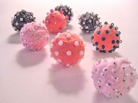Alma Stoller Cotton Ball Fabric Beads