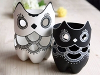 Amazing Interior Design Plastic Bottle Owl Vases