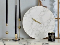 Art Decoration Crafting Faux Marble Wall Clock