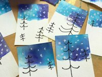 Art Projects for Kids Tissue Paper Christmas Cards