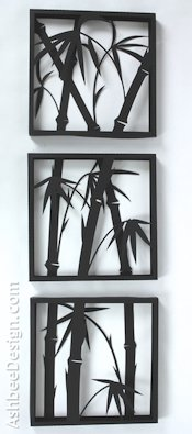 Ashbee Design Silhouette Projects Bamboo Silhouette Wall Art