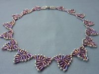 BeadDiagrams Bugle Bead Triangle Necklace