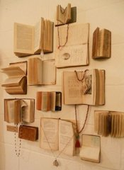 Book Wall Art and Jewelry Holder