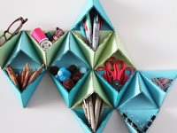 Brit+Co Anjelika Paranjpe Triangular Wall Organizer