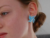 Budgetbabe Polymer Clay Windmill Earrings