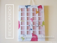 Cafe largo de ideas Recycle Your Advent Calendar