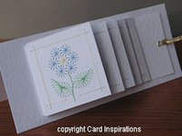 Card Inspirations Waterfall Card with Flower Embroidery