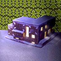 Haute Nature Modernist Gingerbread House