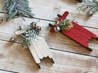 Clean and Scentsible Popsicle Stick Sleds