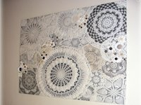 Coloradolady Crochet Doily Wall Art