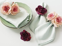 Country Living Rose Napkin Rings