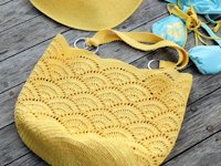Craft Passion Crochet Shell Stitch Tote