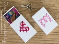 Craft and Creativity Cross-Stitched Matchboxes