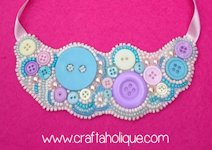 Craftaholique Buttons and Beads Necklace
