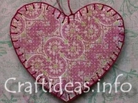 Craftideas Paper Heart Ornament