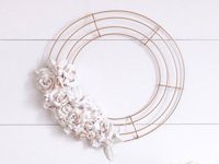 Crafts Unleashed Plaster Flower Wreath