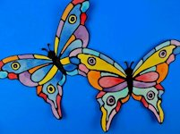 Crayons and Cravings Faux Stained-Glass Butterflies
