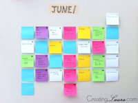 Creating Laura Sticky Note Calendar