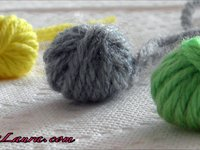 Creating Laura Yarn Ball Buttons