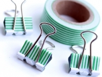 Creative Green Living Washi Tape Binder Clips