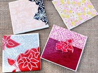 Creme de la Craft Decoupaged Coasters