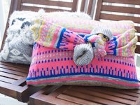 Creme de la Craft No-Sew Sweater Pillow
