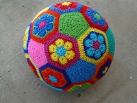 Crochetbug African Flower Ball