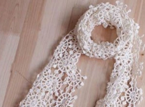 Crocheted Snowflakes Scarf