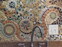 Curbly Mosaics By Ginger Kitchen Mosaic Wall