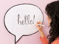 Curly Made Speech Bubble Dry Erase Board