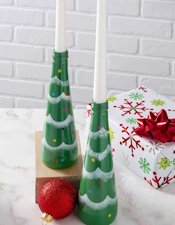 DIY Candy Recycled Christmas Tree Candle Holder
