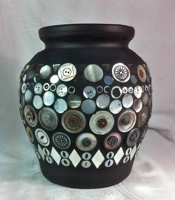 DIY Home Decor Guide Button Vase