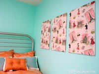 DIYFunIdeas Fabric Panel Wall Art