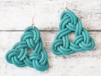 DaWanda pikfine Leather Knot Earrings