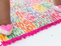 Damask Love Colourful Fabric Rug