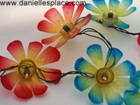 Danielles Place Carolyn Warvel Plastic Bottle Flower Lights